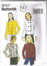 Easy Jacket Faux Leather Front Variation Butterick Sewing Pattern 14 16 18 20 22