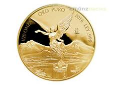Libertad 1/20 oz .999 fine gold Proof Mexico 2016 Fractional