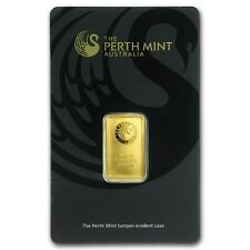 Lingot d'Or 24 carats 999,9/1000 Perth Mint Australie - 5 grammes Gold Bar