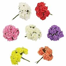 70 Colourfast Roses Variety Pack! Wholesale Artificial Wedding Flowers Job Lot
