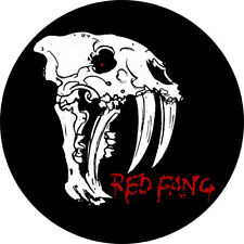 CHAPA/BADGE RED FANG . pin button stoner kyuss kadavar graveyard comets on fire