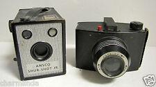 Vintage Agfa Chief & Ansco Sure Shot Jr Box Medium Format Film Cameras
