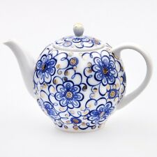 Russian Style Brewing  22 k gold, Porcelain Teapot