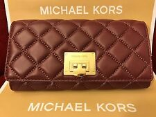 NWT MICHAEL KORS SOFT QUILTED LEATHER ASTRID CARRYALL WALLET - MERLOT/GOLD-HRDWR