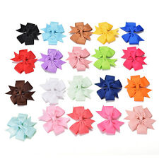 20 Pcs Wholesale Bowknot Hairpin Kids Baby Girls Hair Bow Clips Barrette Hot