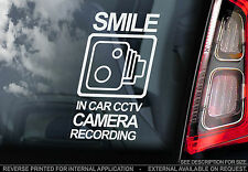 'In Car Camera Recording' - Window Sticker - CCTV Security Sign - Van,Truck,Taxi