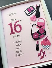 16th 17th BIRTHDAY CARD for Girls Personalised Daughter Grandaughter Gift boxed