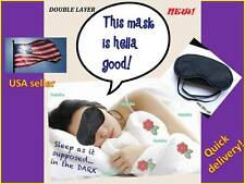 Blindfold soft eye mask eyemask sleep bed two layers light protection iphone A++