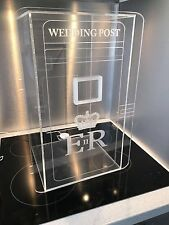 Acrylic Royal Mail Wedding Post Box In Glass Finish.... now lockable