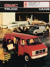 1986 GMC VAN Brochure / Catalog w/ Color Chart : SAFARI,VANDURA,G-1500,G-2500,M
