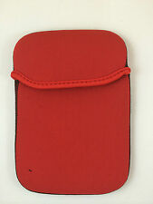 "FUNDA DE NEOPRENO 6"" PULGADAS PARA TABLET EBOOK COLOR ROJO"