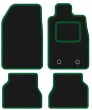 MINI COOPER CONVERTIBLE 2008+ TAILORED CAR MATS BLACK CARPET WITH GREEN TRIM