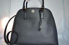 AUTH $550 NWT TORY BURCH Robinson Saffiano Open Dome Leather Satchel Black