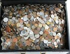 SET LOT OF 30 DIFFERENT TYPE FOREIGN WORLD COINS. MOSTLY 1900's DATES!