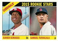Xavier Scruggs 179 2015 Topps Heritage Rookie Stars RC Samuel Tuivailala Cards