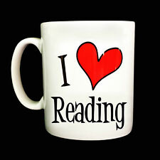 BRAND NEW I LOVE HEART READING GIFT MUG CUP PRESENT LIBRARIAN BOOKWORM BOOKS
