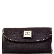 Dooney & Bourke ~Continental Pebble Grain Leather Wallet~ZR507 BB Black~NWT $128