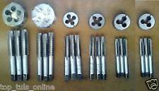 BSW LEFT HAND THREAD TAP AND DIE SET 3/16,1/4,5/16,3/8,7/16,1/2 ENGLISH THREAD