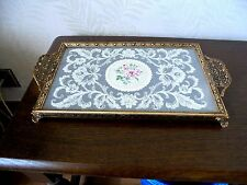 Gorgeous Petit Point/Ormolu Dressing Table Tray