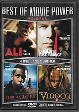 COFFRET 4 DVD / 4 FILMS--ALI - POUR LA GLOIRE - VIDOCQ - DOMESTIC DISTURBANCE