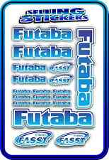 FUTABA SERVO RADIO RX TX 2.4G FLIGHT REMOTE CONTROL STICKERS FASST BLUE BLEND W