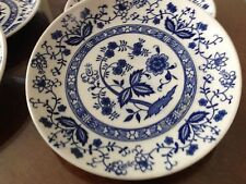 "BLUE and WHITE BLUE ONION 6"" BREAD AND BUTTER PLATE from JAPAN"