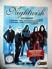 PUBLICITE-ADVERTISING :  NIGHTWISH  2004 pour les concerts, tournée Once