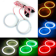 2x 60MM 66 LED COB Bulb Angel Eyes CCFL Headlight Halo Ring Lamp Light 12/24V