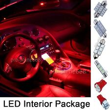 INTERIOR CAR DOME LED LIGHT BULBS Package KIT - RED FOR LAND ROVER DISCOVERY 3