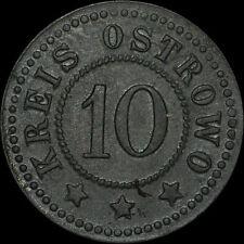 NOTGELD: 10 Pfennig. Funck 415.1A. KREIS OSTROWO / POSEN. OSTRÓW WIELKOPOLSKI.