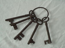 Large Iron Jail Keys On A Ring Metal Old Looking -Lock,Key-Theatre Film Prop