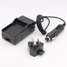 AC Wall + Car Battery Charger For Fujifilm Fuji NP-50 FinePix F75EXR Real 3D W3