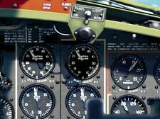 B-17 B17 WWII Aircraft Instrument Panel w/Gauges 6 Foot Lifesize Poster