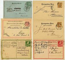 AUSTRIA EARLY POSTAL STATIONERY 6 CARDS 1888-1910 FINE USED inc LETTERCARD