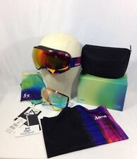 Anon WM1 MFI Snow Goggles Aura Black With Red Solex & Red Ice Lens - Pre-owned