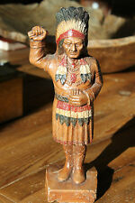Rare Vintage Antique Syroco Wood Indian Cigar Store Statue