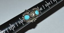 SOUTHWESTERN VINTAGE NAVAJO TC STERLING SILVER AND TURQUOISE RING SIZE 8
