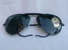 New Ray Ban Sunglasses AVIATOR OUTDOORSMAN  Black  RB 3030 L9500 G-15 Glass Lens