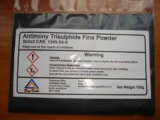 ANTIMONY TRI-SULFIDE 100 grams Super - Fine  ( 400 ) Mesh