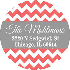 "Personalized Address Labels 100 stickers 2"" diameter"
