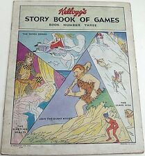 KELLOGGS STORY BOOK OF FUN & GAMES 3 RARE 1931 GIVEAWAY PROMO PROMOTIONAL VG+