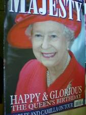 Majesty Magazine V27 #5 Queen At 80, Harry In Army, Charles & Camilla In Egypt,