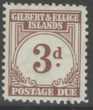 GILBERT & ELLICE IS. SGD3 1940 3d BROWN MTD MINT