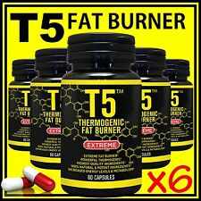 T5 FAT BURNER 100% PURE STRONGEST LEGAL SLIMMING DIET PILLS WEIGHT LOSS CAPSULES