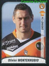 201 OLIVIER MONTERRUBIO FRANCE FC LORIENT FC.SION STICKER FOOT 2010 PANINI