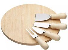 Kitchencraft nuovo Round formaggio in legno bordo & Coltello Servire Set