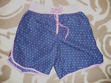 Denim & Co - Blue/Pink Multi Coloured Spotted hot pants,100% Polyester SIZE 10