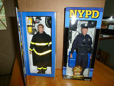 """REAL HEROES 9/11 MEMORIAL NYPD AND FDNY 12"""" ACTION FIGURES"""