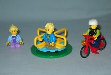 NEW LEGO MERRY GO ROUND,BICYCLE, & 3 MINIFIGURES FROM SET 60134, FUN IN THE PARK