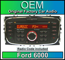 Ford 6000 CD player, Ford Mondeo car stereo headunit with Radio Code